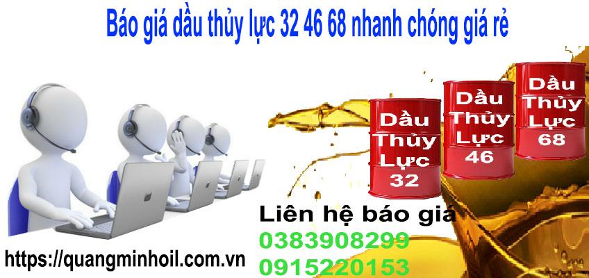 Báo giá dầu thủy lực 32 nhanh chóng giá rẻ
