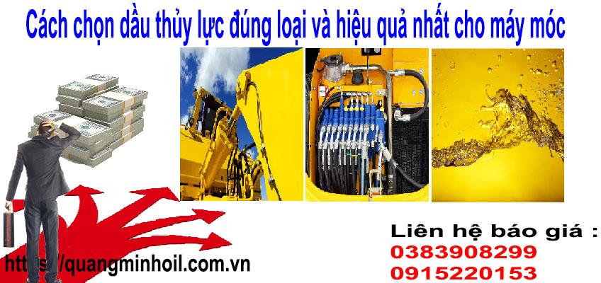 Cách chọn dầu thủy lực đúng loại và hiệu quả nhất cho máy móc