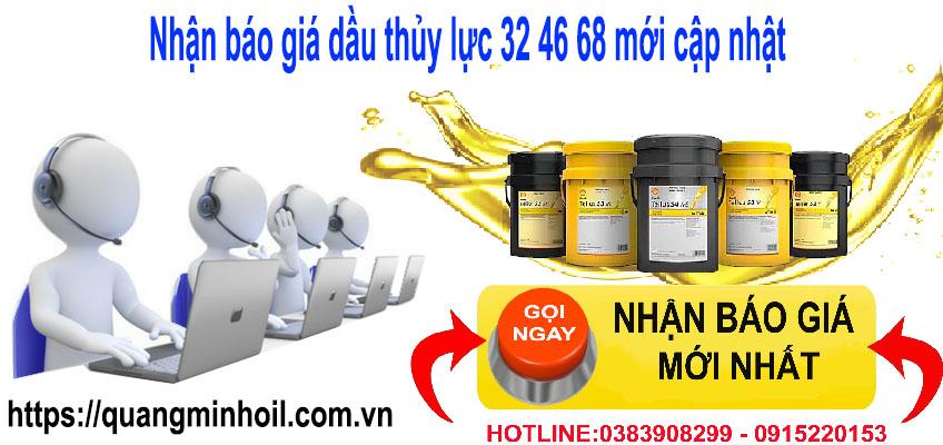 Nhận báo giá dầu thủy lực 32 46 68 mới cập nhật
